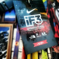 joy - picking up my media pass at iF3