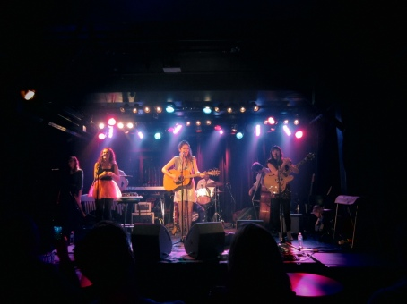 my girls motel raphael playing at POP mtl's indie night