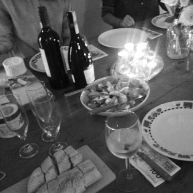 first ever wine & cheese night! so fat.